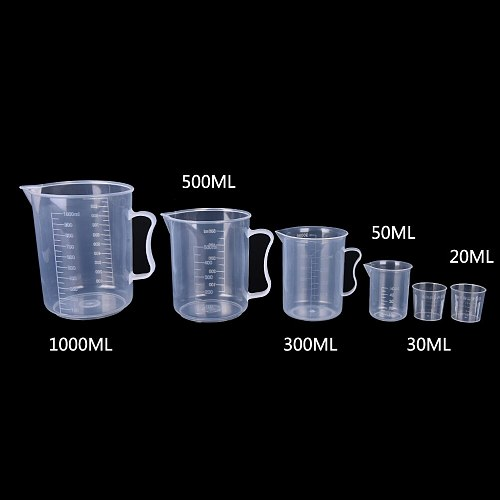 20-1000ml Clear Plastic Graduated Measuring Cup For Baking Beaker Liquid Measure Jug Cup Container