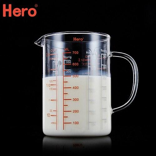 Coffee Measuring Cup Food Grade Glass Measuring Cups Transparent Graduated Cup Heat-resistant Glass Mug Milk Measurings Jug