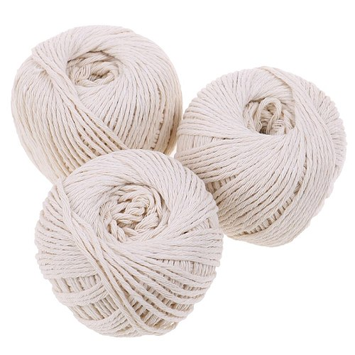 1Roll 229-feet Cooking Tools Butcher's Cotton Twine Meat Prep Trussing Turkey Barbecue Strings Meat Sausage Tie Rope Cord