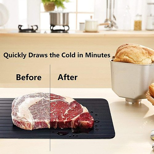 Meat Fast Defrosting Tray Quick Thaw Frozen Meat Fruit Food Safety Defrosting Plate Board Home Use Defrost Kitchen Gadget Tool