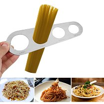 HILIFE Kitchen Accessories 1Pcs 4 Holes Spaghetti Measurer  Pasta Noodle Measure  Stainless Steel