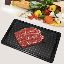 Aluminum Defrost Board Rapid Thawing Tray Without Electricity Chemicals Micro-wave for Thawing freeze Food 34.5 X 24.5 X 3.5Cm