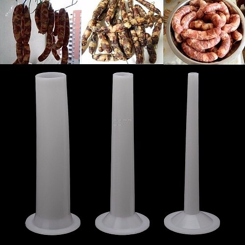 3Pcs Plastic Sausage Filling Stuffing Tube For Handmade Meat Grinder Stuffer 5# A18 dropshipping