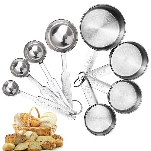 Measuring Cups Stackable Kitchen Measuring Spoon Set Stainless Steel Tablespoons Home Measuring Cups and Spoons Set