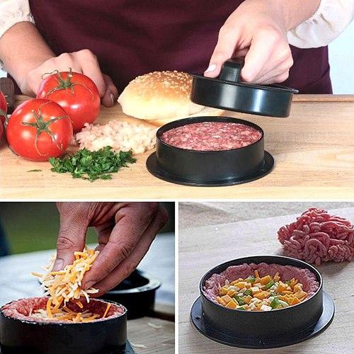 Hamburger Press ABS Burger Maker Round Shape Chef Cutlets Outdoor Hamburger Meat Beef Grill Burger Press Patty Maker Mold