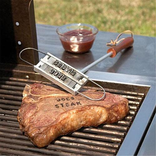 BBQ Branding  Iron 55letters Diy Barbecue Letter Printed Grill Tool Kitchen Tool Accessories