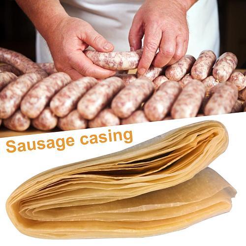 8M Edible Drying Sausage Casing Packaging Tools Flavorous Homemade Sausages Ham Hot Dog Hamburger Cooking Tools