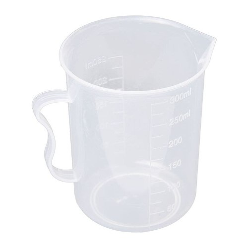 Measuring Jug 250mL Graduated Beaker Clear White Plastic Cup