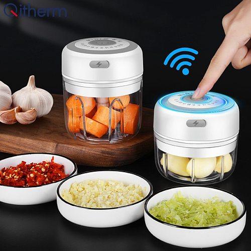 Electric Kitchen Chopper Garlic Masher Meat Grinder Mini Food Garlic Vegetable Chopper Crusher Rechargeable Food Processor