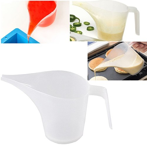 1000ml Tip Mouth Plastic Measuring Cup Clear Scale Show Liquid Measure Jug Kitchen Baking Hotel Bar Measure Container Device