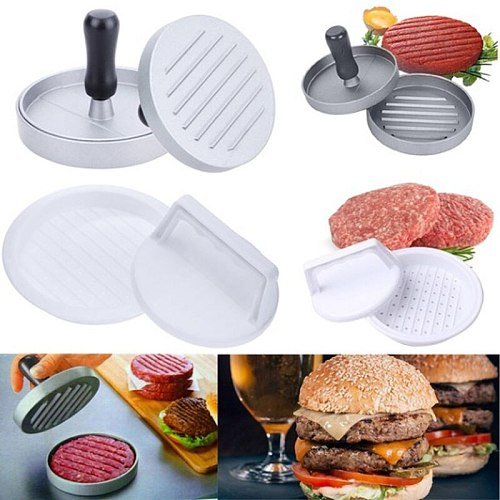 Round Shape Meat Tools Hamburger Press Plastic  amburger Meat Beef Grill Burger Press Patty Maker Mold Kitchen supplies