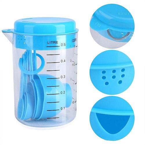 500ml PVC Heat-resisting Glass Measuring Cup Milk Scale Microwave Measure Jug Measuring Cups Kitchen Toolsбутылка для воды