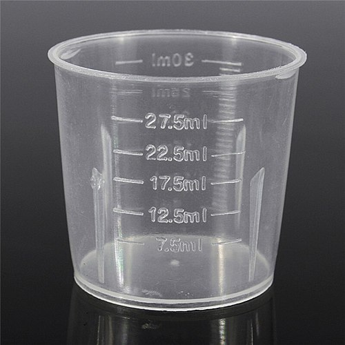 Imixlot Reusable 30ML Plastic Measuring Cup Graduated Surface Durable Measuring Jug With Handle Easy Clean Kitchen Tools