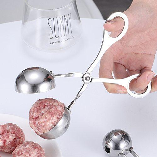 Convenient Kitchen Meatball Maker Stainless Steel Non-Stick DIY Meatball Clip Fish Ball Rice Ball Making Mold Kitchen Utensil