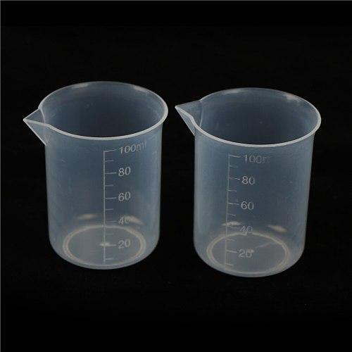 2PCS Plastic Measuring Cup Jug Pour Spout Surface Kitchen Tool Supplies 100ML