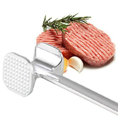 19.5cm Two Sides Aluminum Meat Hammer Mallet Beef Chicken Steak Beefs Porks Quality Meat Needle Stainless Steel Kitchen Tools