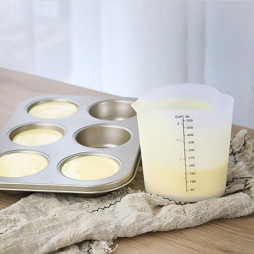 Heart 500ml Silicone Measuring Cup Butter Water Liquid Measure Cup Jug Flexible Silicone Cup Cooking For Kitchen Measuring Tools