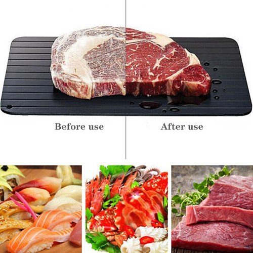 1pcs Fast Defrost Tray Fast Thaw Frozen Meat Fish Sea Food Quick Defrosting Plate Board Tray Kitchen Gadget Tool Dropshipping