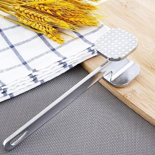 Steel Aluminum Alloy Manual Double-sided Kitchen Pork Steak Loose Meat Tools Hammer W7Q3