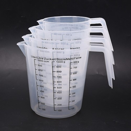 400ml 600ml 800ml 1000ml Plastic Measuring  Graduated Jug Cup Kitchen Cooking Baking Tool With Scale