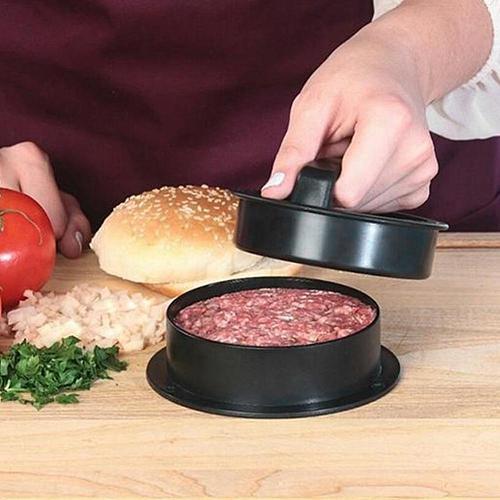 Non-stick Kitchen Stuffed Burger Maker Press Round Maker Mould Meat Cutlets Kitchen Tools Meat Hamburger E5S1 Shape Hamburg V5S3