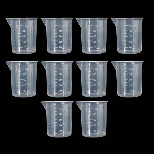 100ml Measuring Cup 2X/10X Transparent Plastic Spoons For Kitchens Laboratories used in kitchens or laboratories Measuring Cups