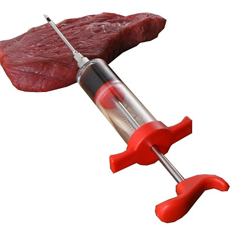High Quality flavor injector Marinade butter Injector Flavor Syringe Cooking Meat Poultry Turkey Chicken BBQ Tool injection