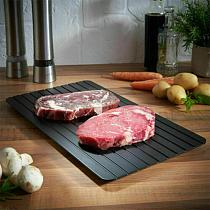 2021 New Aluminium Fast Defrosting Tray Frozen Meat Seafood Thawing Fresh Healthy Rapid Defrost Plate Food Gadgets Kitchen Tools