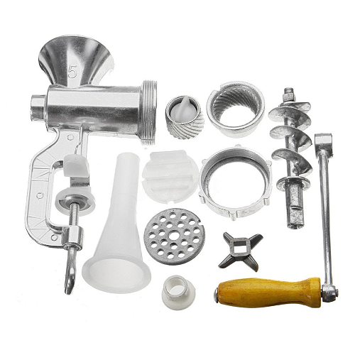 Aluminium Alloy Manual Meat Grinder Noodle Sausage Handheld Making Gadgets Mincer Home Kitchen Cooking Tools Food Processor