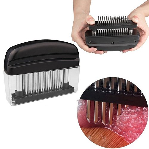 1Pcs 48 Blades Needle Meat Tenderizer Stainless Steel Knife Meat Beaf Steak Mallet Meat Tenderizer Hammer Pounder Cooking Tools