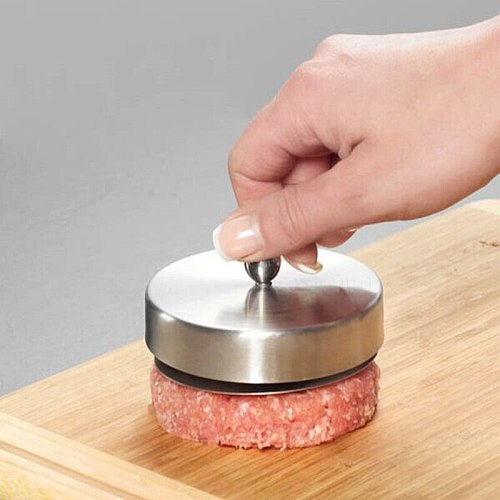 Stainless Steel Patty Maker  Hamburger Patties Mold Hand Operated Burger Press Kitchen Accessories Cooking Tools