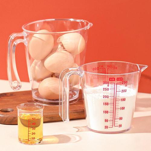 250/500ml Plastic Transparent Measuring Cup Jug Pour Spout Surface Kitchen Supplies Accessories For Caking Baking Tools