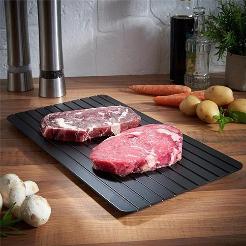 Fast Defrost Tray Fast Thaw Frozen Meat Fish Sea Food Quick Defrosting Deicing Aluminum Plate Board Tray Kitchen Gadget Tool