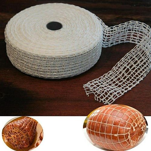 1 Meter Cotton Meat Net Ham Sausage Roll Net Hot Dog Tools Packaging Sausage Cooking Net Butcher's Tool Kitchen Meat String