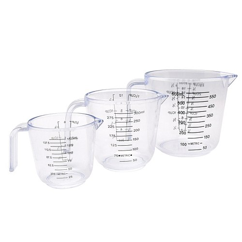 150/300/600ml Measuring Cup Large Capacity Scale Measuring Container Measuring Cup Clear Scale Show Transparent Tools