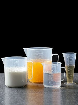 4PCS/Set Microwavable/Refrigerated Measuring Cup Plastic Jug 1000ml 600ml 300ml 100ml Scale Measurements Tool For Kitchen