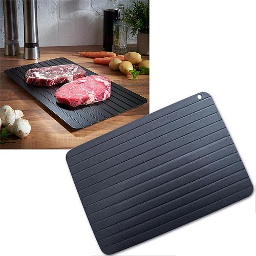 Defrost Tray Food Meat Pork Fish Thaw Frozen Quickly Plastic No Electricity Chemicals Microwave Kitchen Defrosting Tools