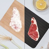 Quick Defrosting Plate Board Defrost Kitchen Gadget Tool  Aluminum Alloy Steel Fast Defrosting Tray Thaw Frozen Food Meat Fruit