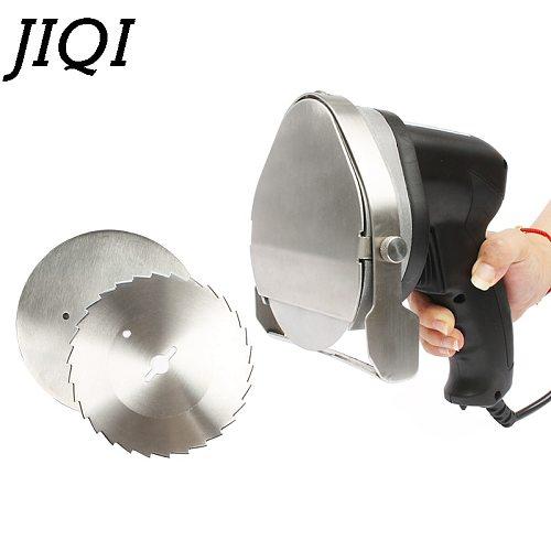 JIQI Electric Kebab Slicer Doner Knife Shawarma Cutter handheld Roast Meat cutting machine Gyro Knife 220-240V 110V Two blades
