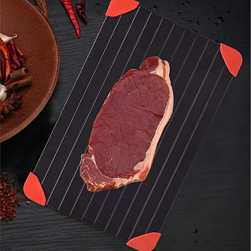 1pc Fast Defrost Tray Fast Thaw Meat Fruit Food Quick Defrosting Plate Board Tray for Kitchen Gadget Tools