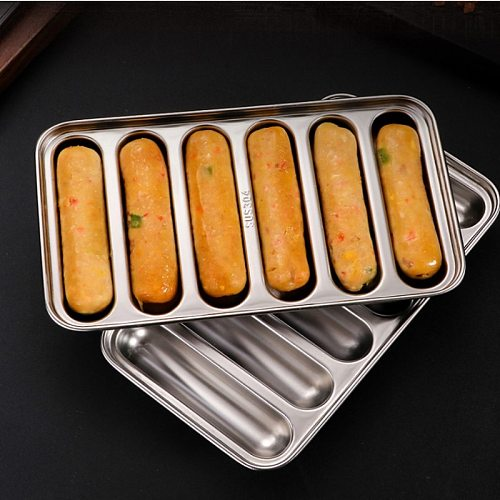 Sausage Makers Mold DIY Hot Dog Handmade Ham DIY Sausage Mould 6 In1 Kitchen Gadge Making and Refrigerated Hot Dog Tool