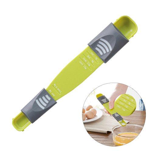 Adjustable Kitchen Scale 13G/ML Liquid Powder Measure Cup Metering Spoon Double Head Measuring Spoon for Cooking Seasoning Scale