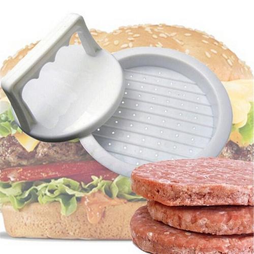 Round Shape Hamburger Press Plastic Hamburger Meat Beef Grill Burger Press Patty Maker Mold Kitchen Supplies Tool