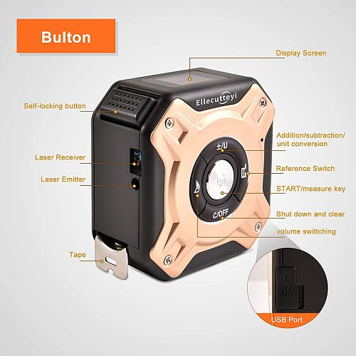40M Digital Laser Measure Tape Rangefinder Measuring Measure King Cinta Metrica Electronic Roulette Roulettes Tape Laser Trena #