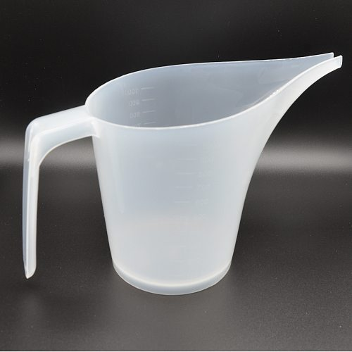 1Pcs 1000ML Tip Mouth Plastic Measuring Jug Cup Kitchen Supplies With Graduated PP Liquid Measure Container White Baking Tools