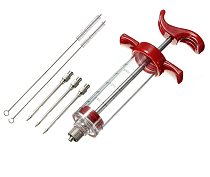 Food Grade PP Stainless Steel Needles Spice Syringe Set BBQ Meat Flavor Injector Kithen Sauce Marinade Syringe Accessory