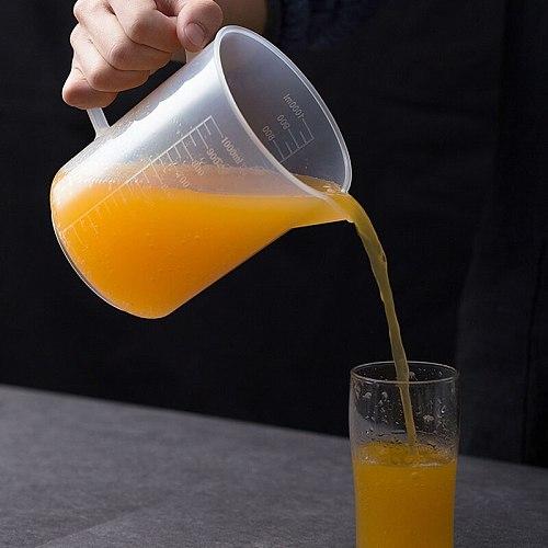 100/300/600/1000ML Measuring Cup Transparent Food Grade Plastic Jug Pour Spout High Quality Kitchen Baking Measuring Tools