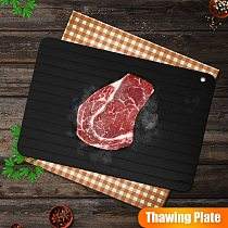 Fast Defrosting Tray Thaw Frozen Food Meat Fruit Seafood Quick Defrosting Aluminum Alloy Plate Board Defrost Kitchen Gadget Tool