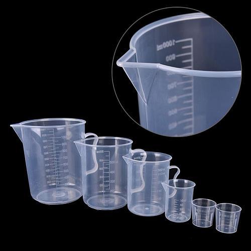 20/30/50/300ML Transparent Plastic Measure Jug Pour Spout Surface Kitchen Laboratory Measuring Scale Cup #734