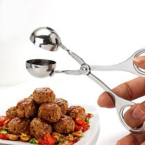 Stainless Steel Meatball Maker Spoon Kitchen Tools Shrimp Balls Mold Digging Ball Spoon Japanese Snack Foods Fish Balls Tools